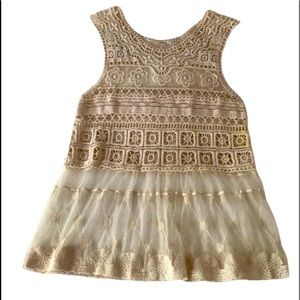 Lovely 153 Crochet and Lace Top